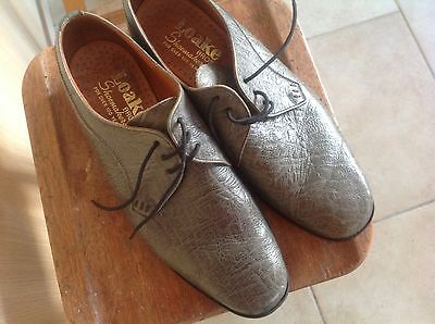 Mens shoes vintage Loake Bros grey leather size 9.5 lace ups made in England