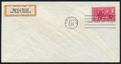 UNITED STATES OF AMERICA 1952 FIRST DAY COVER USA FDC #a355 PHILADELPHIA CANCEL