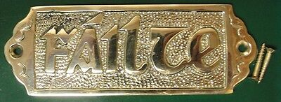 Solid Brass Celtic Small Failte Door Plate