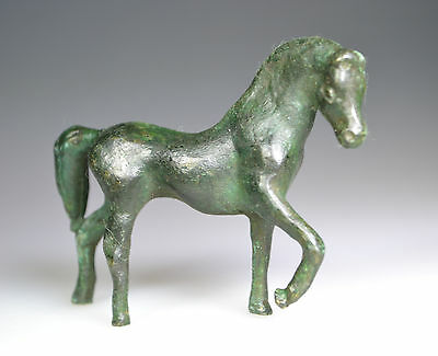 Roman Bronze Figurine of a Horse