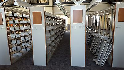 Library Book Shelving Cantilever Doublesided w/ LEDS, End Panels