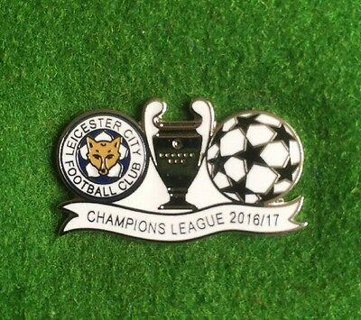 Leicester City , Champions League Badge , 2016/17