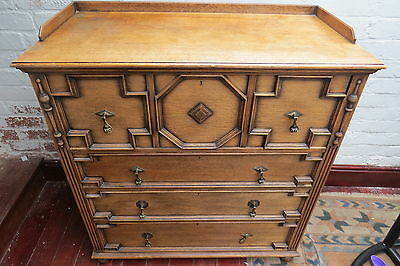 Large Edwardian chest of drawers.