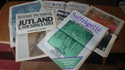 Great Newspapers Reprinted - 5 Reprints of Newspapers from the 1910s