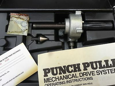 New Demo Petersen Punch Puller Mechanical Driver System, Case and Paperwork