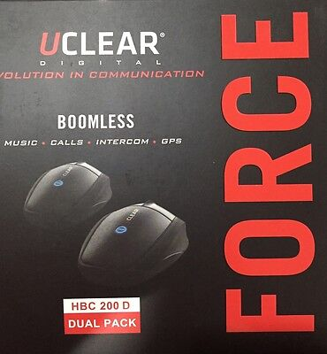 Uclear Twin Motorcycle Intercom Pack