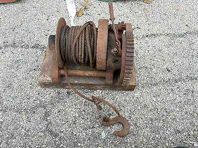 Beebe Ingersoll Rand 2 Ton Hand Winch Hand Brake cable