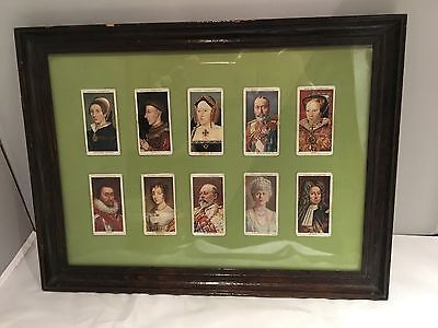 Framed Players Kings And Queens Cigarette Cards