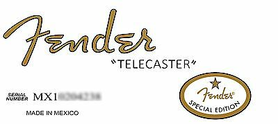 Two  MIM '52 Fender FSR Special Edition Telecaster Decals