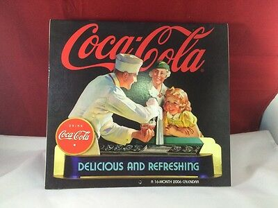 Coca Cola 2006 Vintage 16 Month Calendar- Excellent Gift For Collectors