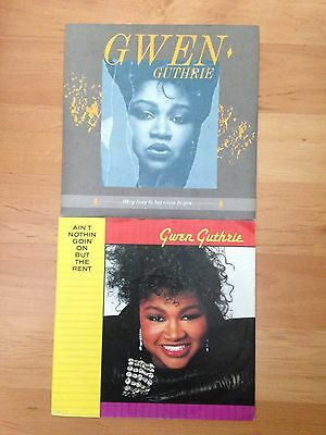 """7"""" Vinyl Singles x2 Gwen Guthrie incl Nothing But The Rent"""