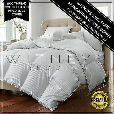 100% HUNGARIAN PURE GOOSE DOWN Quilt Duvet in Togs 10.5 13.5 All Seasons
