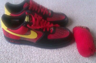 Nike air force 1,kyrie irving signature trainers ,black,red,yellow size 7.5.