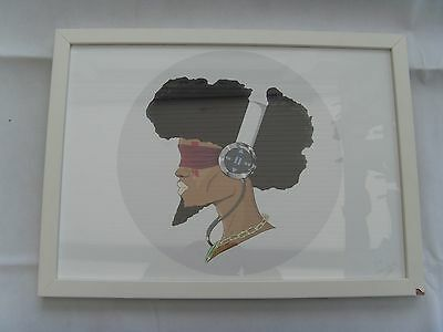 """Art Picture """" Cry """" by designer Alexander II Akande with poem & signed 1 of 3"""