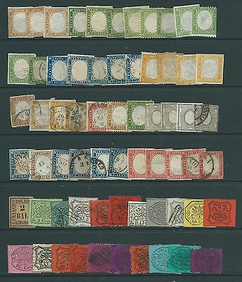 Italian States 65 Stamps Mint And Used.