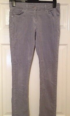 M&S Grey Soft Cord Trousers Size 13-14 Years