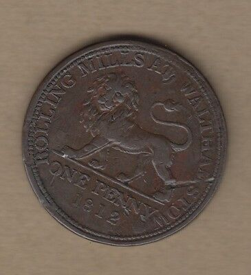 Walthamstow Rolling Mills 1812 Penny Token Auction Starts At £1