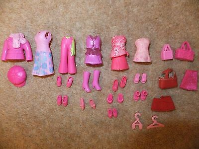 polly pocket clothes pink sets Very good condition
