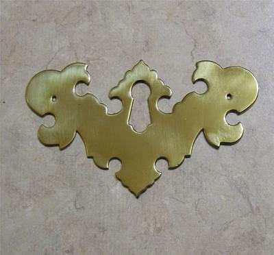 """Small Roof Chippendale Brass Keyhole Escutcheon Hardware  3 1/2"""" x 2 1/8"""""""