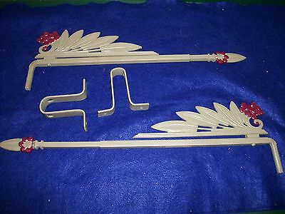 Vintage - Antique-Old -Cast Iron Swing A Way- Extending Drapery/curtain Rods-Pr,