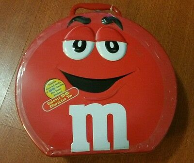 M&M's TIN LUNCH BOX RED 2001