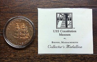 Uss Constitution Museum Medallion Blended With Original Sheathing Hull Copper
