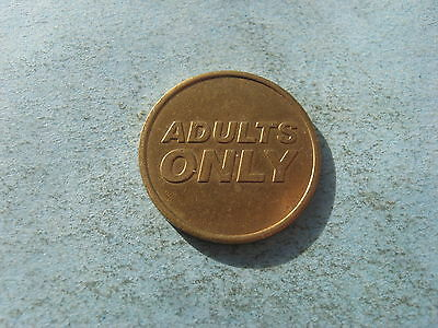 Adults Only Gold Coloured Token Coin