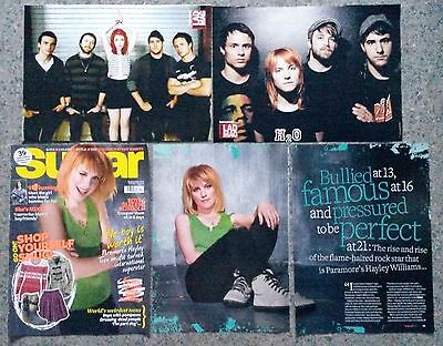 5 x Paramore / Hayley Williams clippings cuttings articles small posters