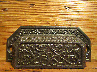 Antique Russell Erwin Victorian Eastlake Bin Pull Drawer Handle Old Apothecary