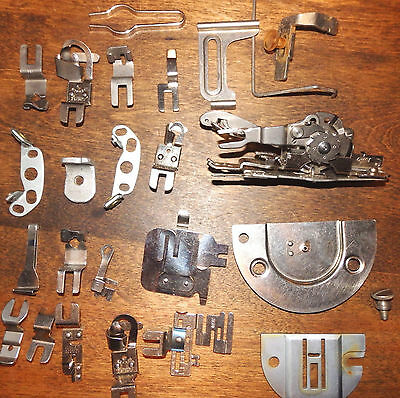 Vintage Greist Sewing Machine Rotary Hemstitching & Picoting & Misc Attachments