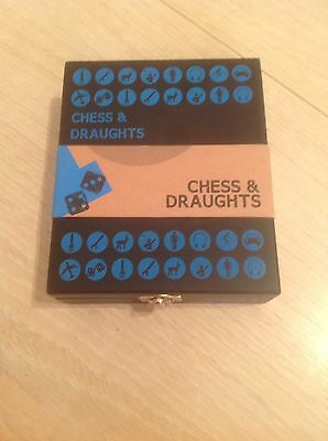 New In Box Travel Chess& Drafts Set