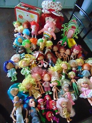 Vintage Huge Lot of Strawberry Shortcake Dolls  + More LQQK !