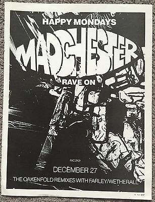 HAPPY MONDAYS - MADCHESTER RAVE ON 1989 full page magazine ad