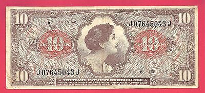 Military Payment Certificate 1965 (ND) Series 641 $10 Note P-M63