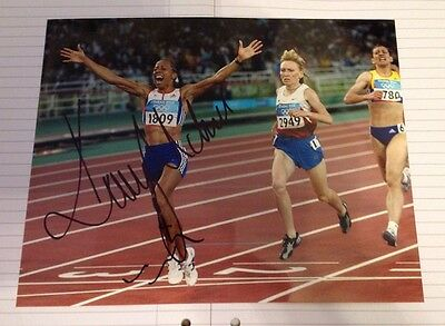 Kelly Holmes  -  Olympic Champion 2008   -  Signed  Col Photo - Uacc