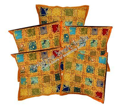 10 Embroidery Sequin Patchwork Sari USA Pillow Cushion Covers Wholesale Lot