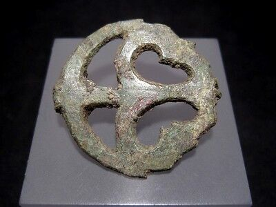 Superb Roman Bronze Fibula Brooch, Open Work+++Top Condition+++