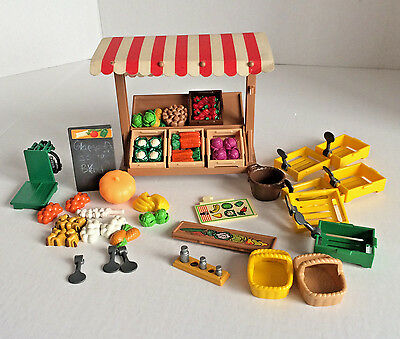Playmobil 5341  Victorian Vegetable Stand With Vegetables Baskets Etc No Figures