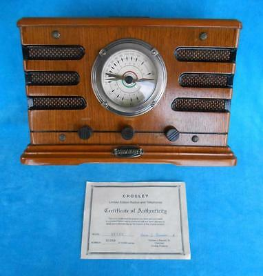 Vintage ~ CROSLEY METRO RADIO & CASSETTE PLAYER ~ LIMITED EDITION ~ ALL WOOD