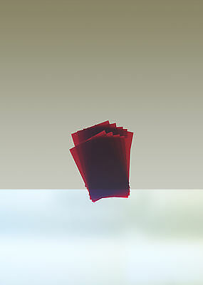 "Rubylith, Lot of 10 sheets, 4"" x 6"", Red"