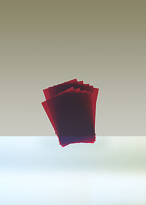 "Rubylith, Lot of 10 sheets, 5"" x 7"", Red"