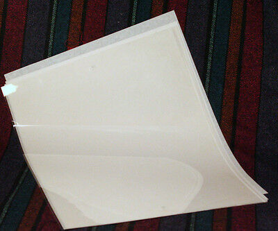 "10 Clear Acetate (Plastic) Sheets 11"" X 14"" X .003 Food Grade"