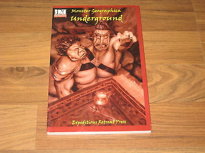 d20 Monster Geographica Underground SC Expeditions Retreat Press 2004 VG