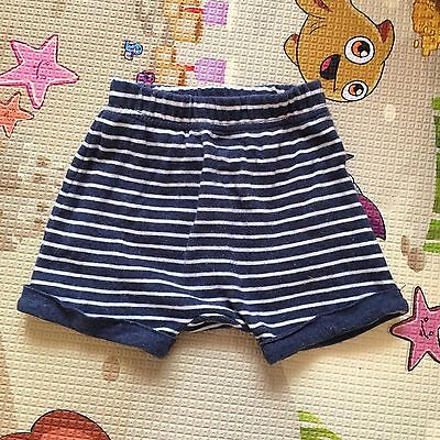 Cute Baby Boy Blue White Stripe Summer Shorts Size 00 for 3-6months