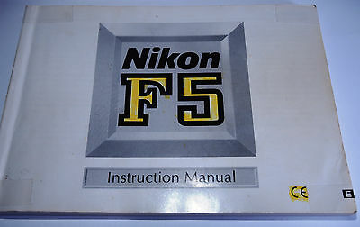 Nikon Genuine F5 Camera User Guide / Manual / Instruction Book with Highlights