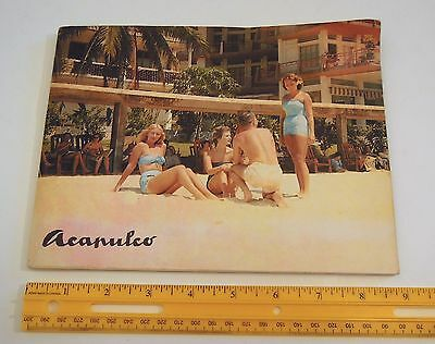 1950's Acapulco resorts photo pamphlet 30+ color images