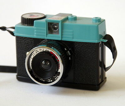 Diana Mini 35mm film camera with 24mm lens and flash lomography