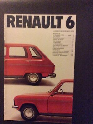 1979 Renault 6 Sales Brochure - French Text