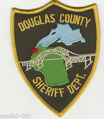 Scenic Bridge Douglas County Sherffi State Wisconsin WI Shoulder patch