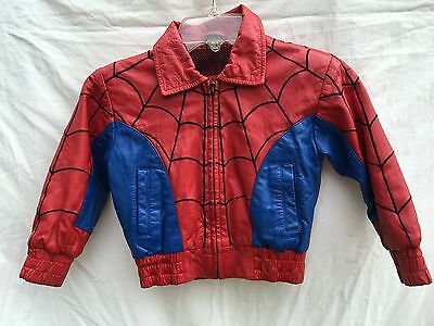 Rare Vintage Spider-Man Leather Jacket Child's Size 3T